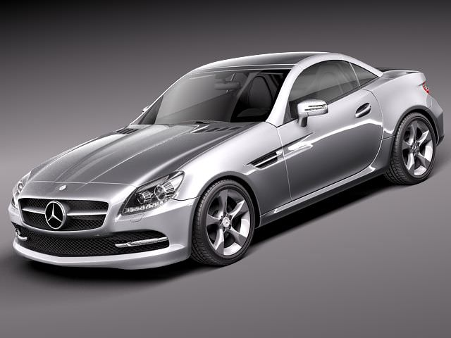 Mercedes slk 2012 3d model max obj 3ds fbx c4d lwo lw lws for Mercedes benz slk models
