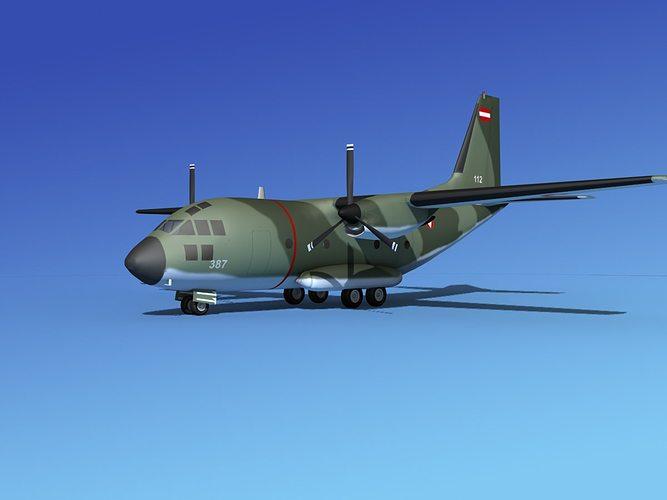 alenia c-27a spartan austria 3d model max obj 3ds lwo lw lws dxf stl 1