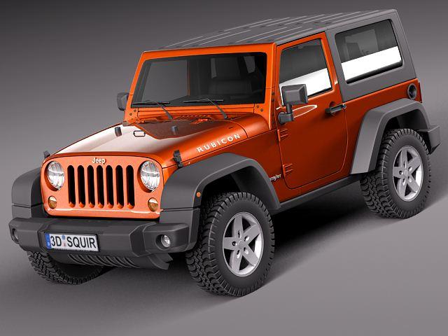 Jeep Wrangler Rubicon 2012 3D Model