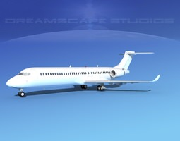 3d model comac arj21-700 unmarked 2 rigged