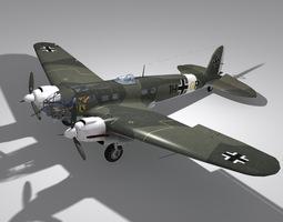 Heinkel He111 H-6 1HGP Luftwaffe military 3D model