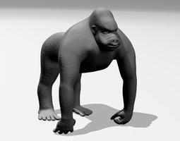 gorilla 3d print model