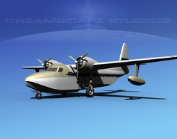 3D model Grumman G-73 Mallard V05