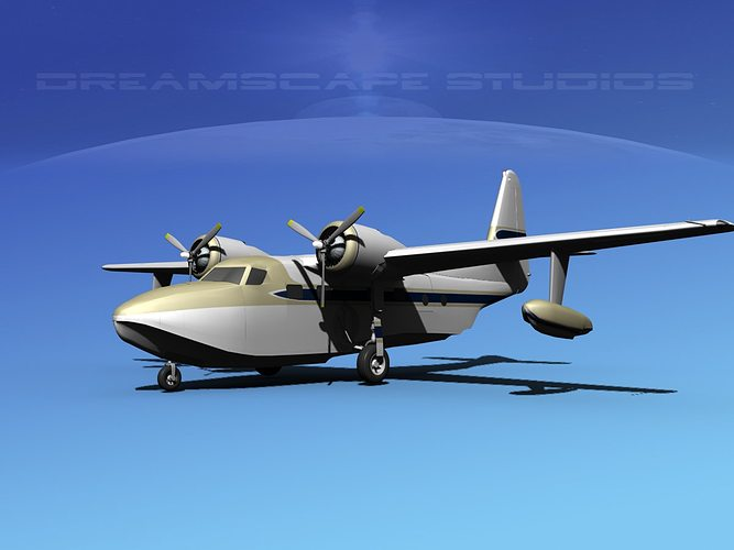 grumman g-73 mallard v05 3d model max obj mtl 3ds lwo lw lws dxf stl 1