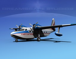 Grumman G-73 Mallard Gulf Coast Aviation 3D model