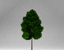 Low Poly Tree 3D asset