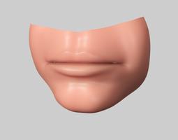 3D model lip realistic lip human lip