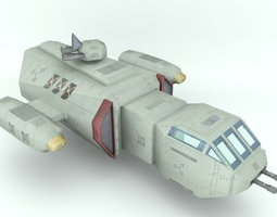 deep space freighter realtime 3d model