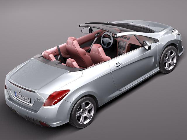 peugeot 308 cc 2012 3d model max obj 3ds fbx c4d lwo lw. Black Bedroom Furniture Sets. Home Design Ideas