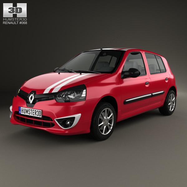 Renault Hatchback: Renault Clio Mercosur Sport 5-door Hatchback 2013 3D Model
