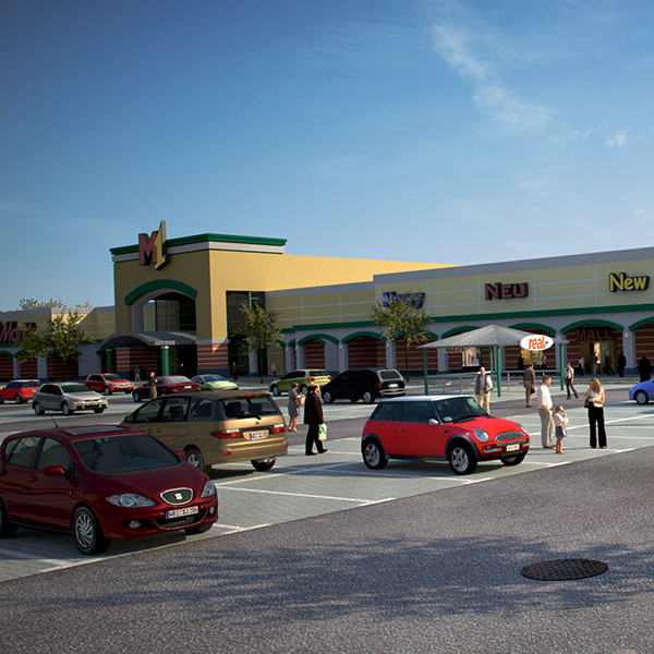 Retail store mall m1 full textured scene render ready 3d for Exterior standalone retail