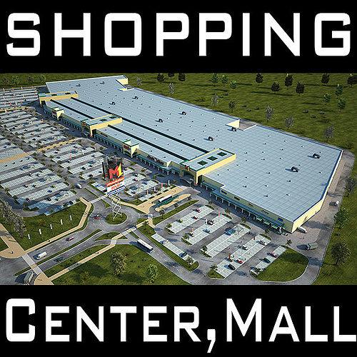 retail store mall m1 full textured scene render ready 3d model max obj mtl fbx c4d lwo lw lws ma mb 1