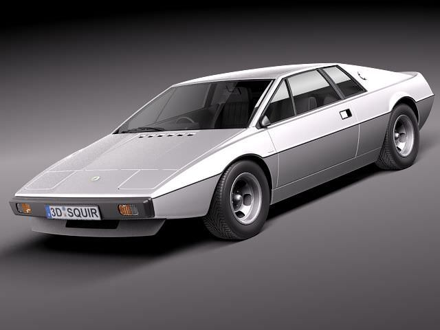 lotus esprit s1 1976-1980 3d model max obj mtl 3ds fbx c4d lwo lw lws 1