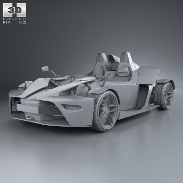 KTM X-Bow 2012 3D Model MAX OBJ 3DS FBX C4D LWO LW LWS