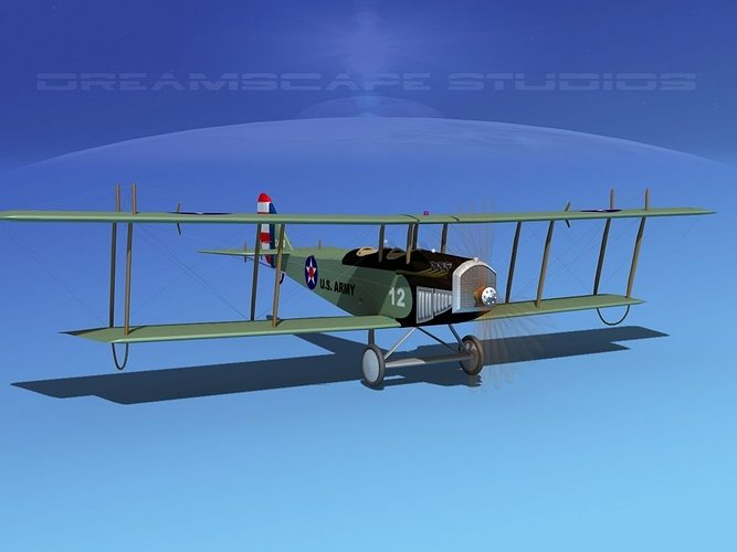 curtiss jn-2 jenny v04 us army 3d model animated max obj 3ds lwo lw lws dxf stl 1
