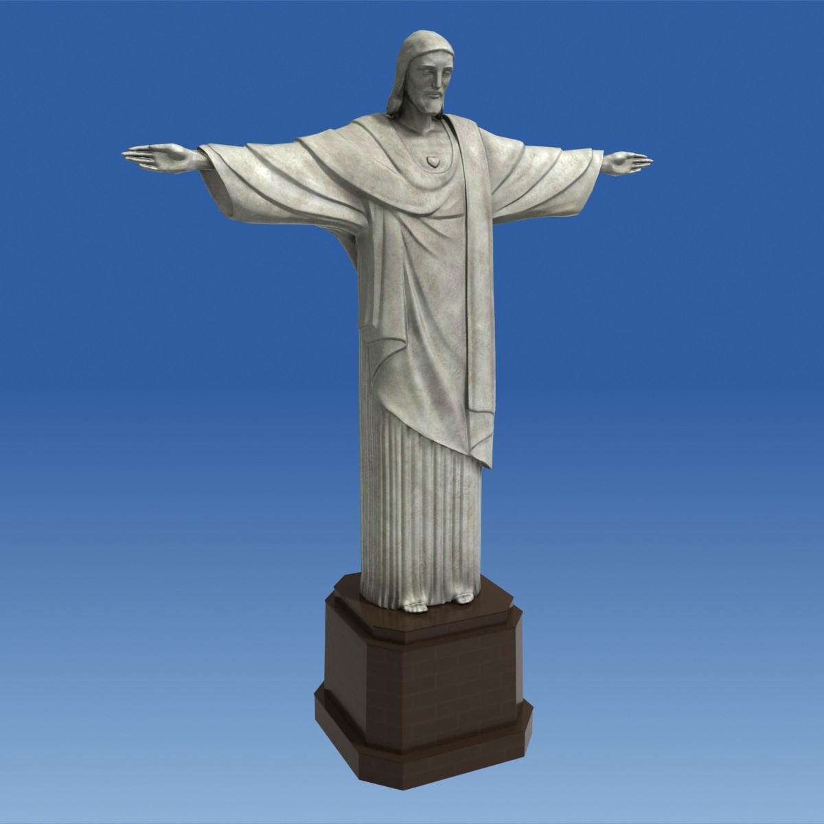 Christ The Redeemer : D model realistic christ redeemer statue vr ar low