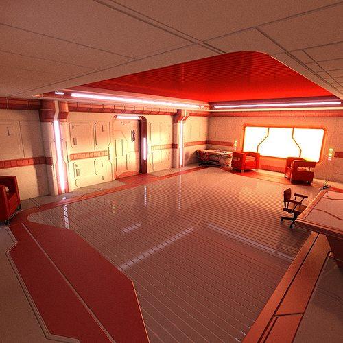sci fi apartment scene 3d model obj 3ds blend mtl 1