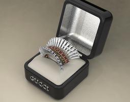 3D printable model Elegant cocktail ring