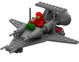 modular brick mini spaceship 3 poser rigged 3d