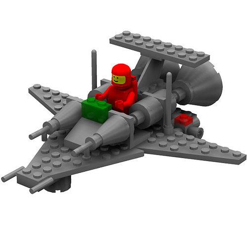 Modular Brick Mini Spaceship 3 Poser 3D model   CGTrader
