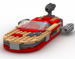 Modular Brick Landspeeder Poser 3D model