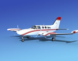 Cessna 421 Golden Eagle V15 3D model
