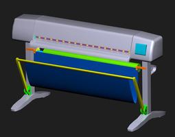 inkjet  plotter    3d model