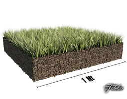 3D Grass patch 01