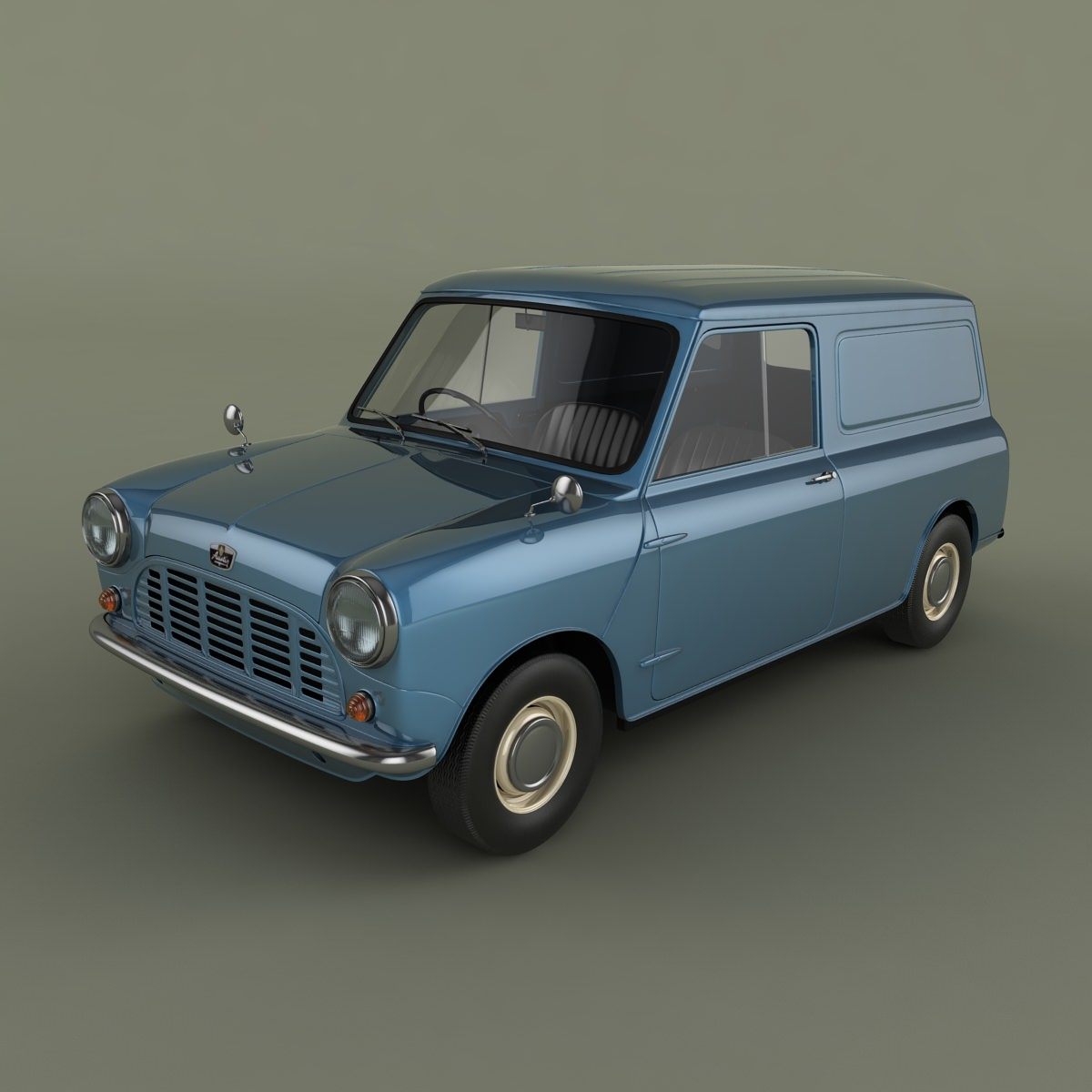 Austin Mini Van 3D Model MAX OBJ
