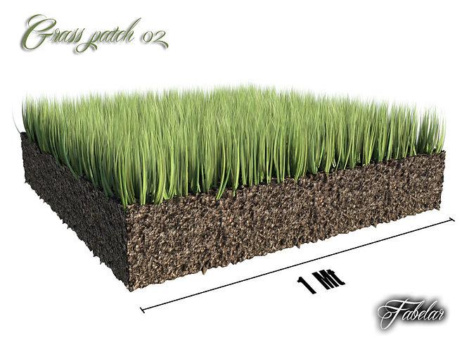 grass patch 02 3d model max obj 3ds fbx c4d 1