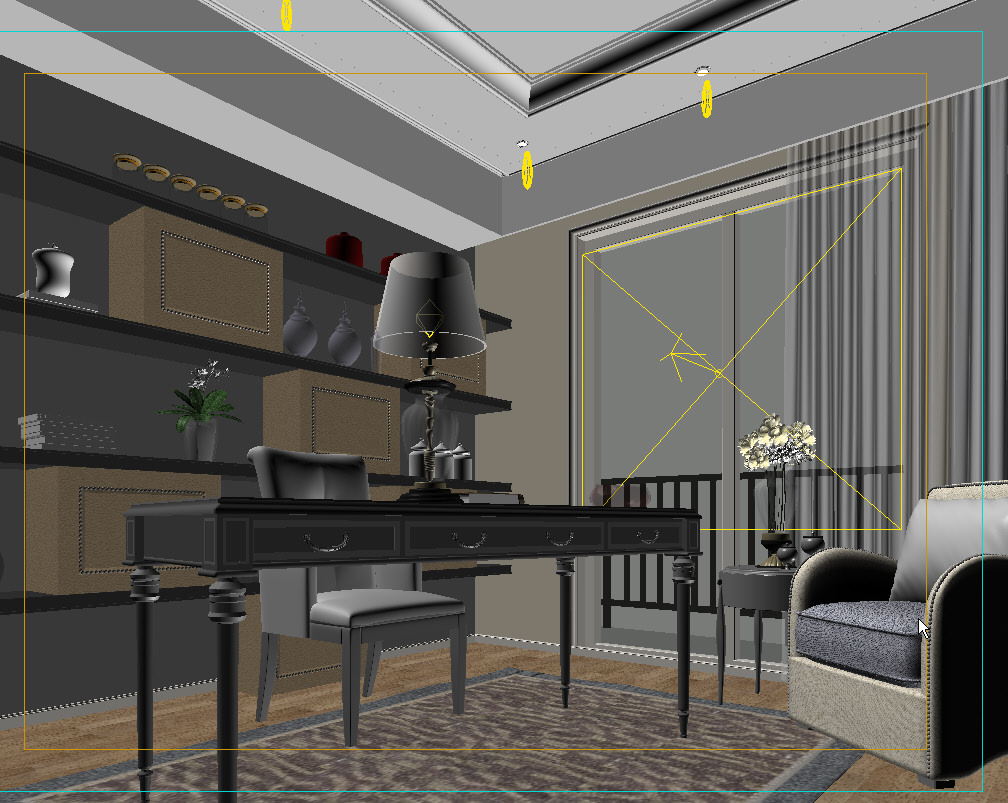 Modern design room 3d model max for 3d decoration models