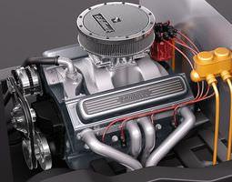 edelbrock crate engine v8 3d model max 3ds