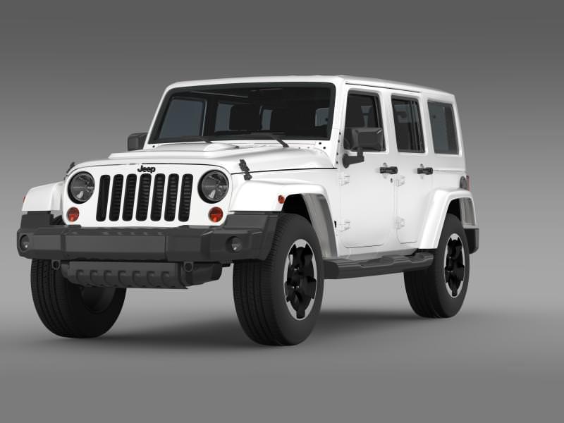 Jeep Wrangler Polar 2014 3d Cgtrader