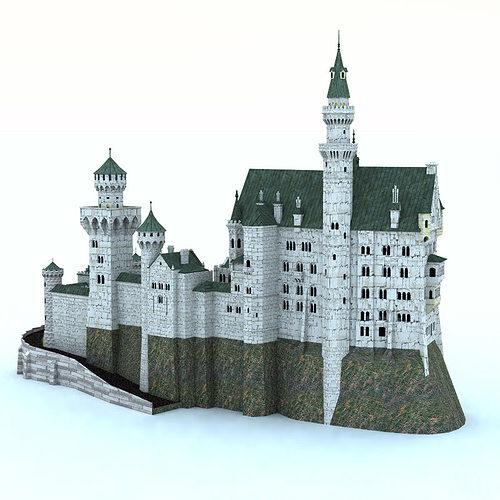 Neuschwanstein castle poser vue 3d model vue pz3 pp2 for Architecture 3d vue 3d