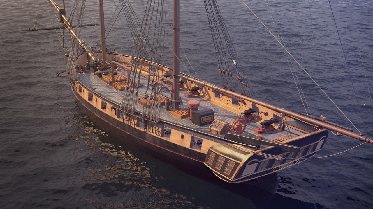 Brig Sail Ship Exuberant 3d Model Max Cgtrader Com