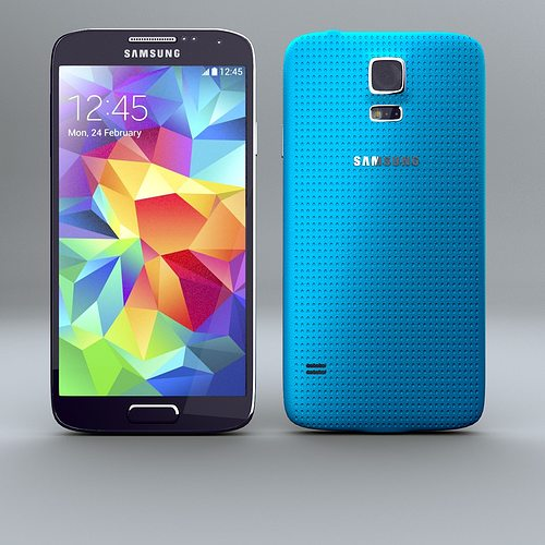 samsung galaxy s5 smartphone 3d model obj mtl 3ds fbx lwo lw lws stl blend 1