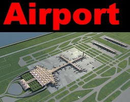 Airport With Wavy Roof 3D model