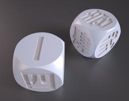3D printable model Asian Dice