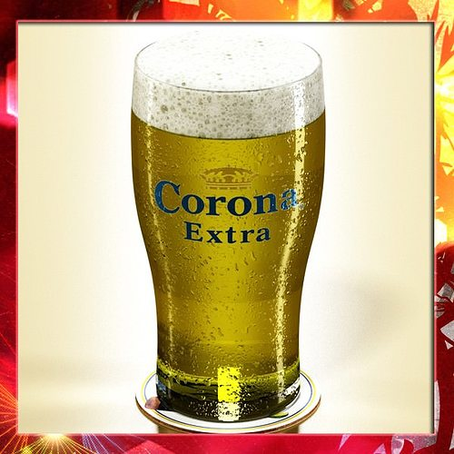 Corona beer pint glass 3d model max obj 3ds fbx mtl mat for How to make corona glasses