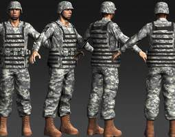 daniel military cloth rigged 3d