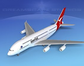 3D Airbus A380-800 Qantas