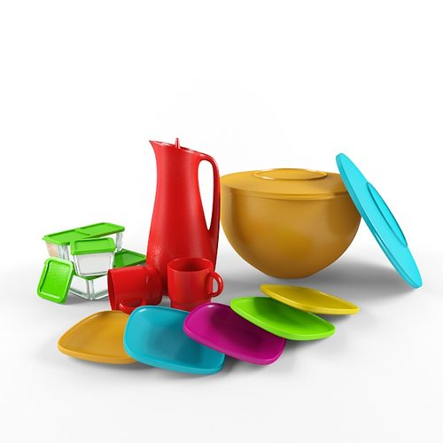 Plastic Objects Free 3d Model Max Fbx