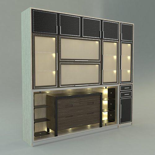 Cabinets 3d wardrobe cgtrader for 3d wardrobe planner
