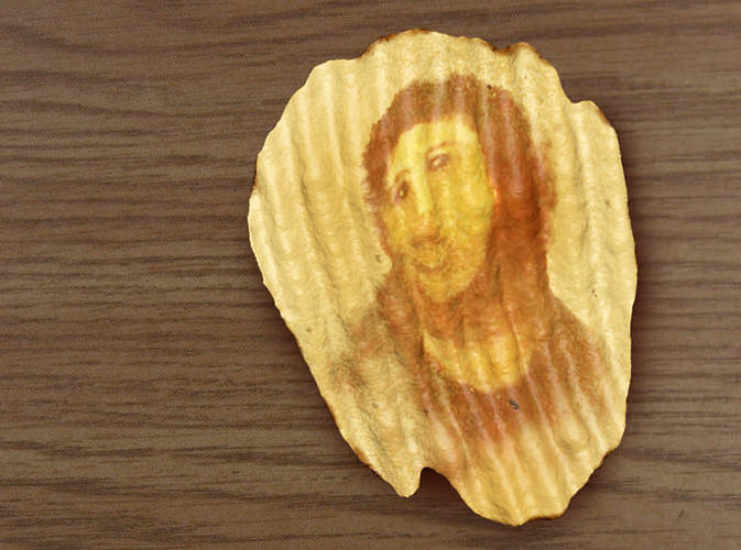 potato jesus potato chip 3d model wrl wrz 1