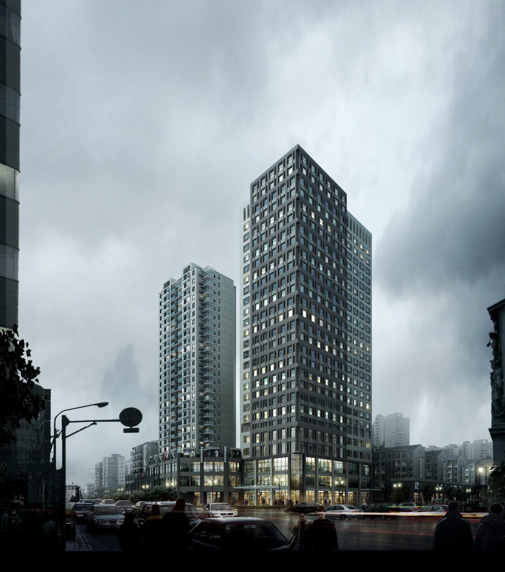 Best Exterior Design App: Modern Skyscraper With Exotic Exterior 3D Model