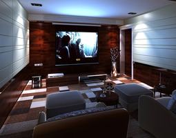 3D model Home Theater Interior