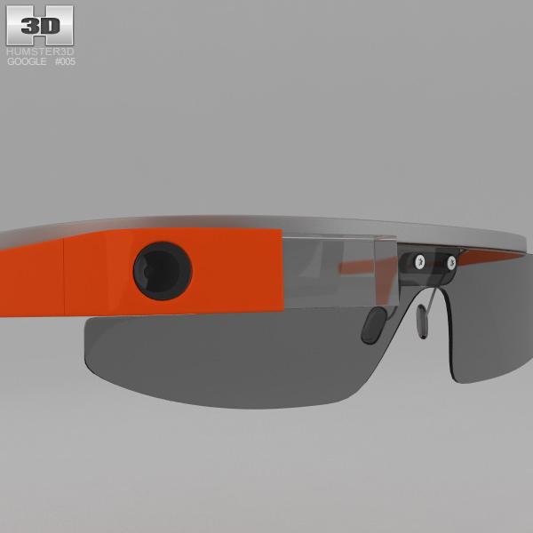 Google Glass 3d Model Max Obj 3ds Fbx C4d Lwo Lw Lws