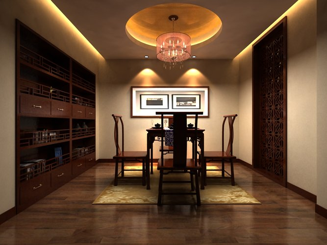 High end Dining Room Interior with Painting 3D model. High end Dining Room Interior with Painting 3D model MAX