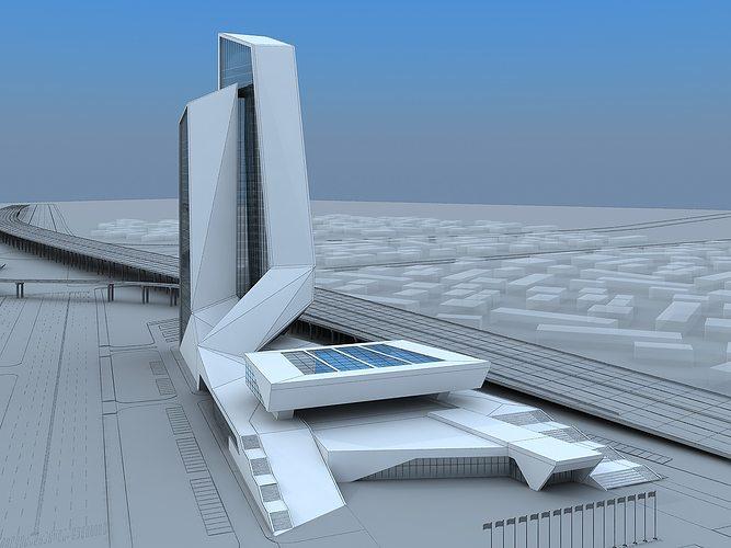 city building 3d model max fbx 1