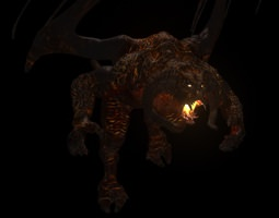 rigged low-poly balrog 3d model